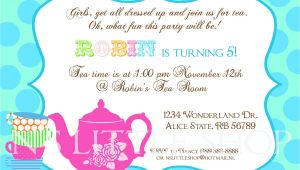 Tea Party Invite Wording Tea Party Invitation Wording Template Best Template