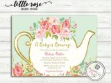 Tea Party themed Baby Shower Invitations A Baby is Brewing Baby Shower Tea Party Invitation