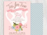 Tea Party themed Baby Shower Invitations Printable Tea Party Baby Shower Invitation Tea Pot Floral