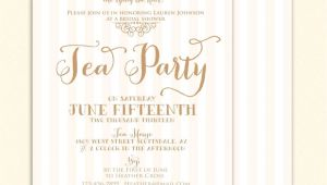 Tea Party themed Bridal Shower Invitations Bridal Shower Tea Party Invitations Party Invitations