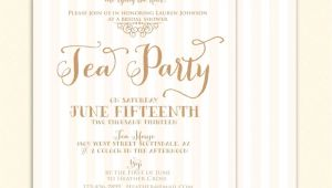 Tea themed Bridal Shower Invitations Bridal Shower Tea Party Invitations