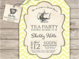 Tea themed Bridal Shower Invitations Bridal Tea Party Bridal Shower Invitations Yellow theme Party