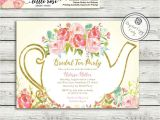 Tea themed Bridal Shower Invitations Garden Tea Party Bridal Shower Invitation High Tea