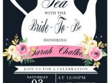 Tea themed Bridal Shower Invitations Tea Party Bridal Shower Invitation