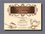 Tea themed Bridal Shower Invitations Tea Party themed Bridal Shower Invitation by Designsmadesimple