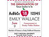 Teacher Graduation Invitations Apple for the New Teacher Graduation Announcements