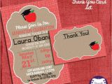 Teacher Graduation Invitations Teacher Graduation Invitation and Thank You Card Set