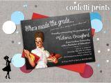 Teacher Graduation Invitations Teacher Graduation Invitation Making the Grade Printable