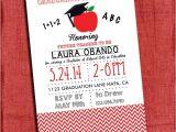 Teacher Graduation Invitations Teacher Graduation Party Invitation Chevron Style 4×6 or 5×7