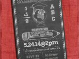 Teacher Graduation Party Invitations Chalk Style Teacher Graduation Party Invitation 4×6 or 5×7