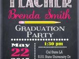 Teacher Graduation Party Invitations Teacher Education Degree Graduation Invitation Personalized
