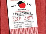 Teacher Graduation Party Invitations Teacher Graduation Party Invitation Chevron Style 4×6 or
