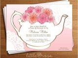 Teapot Bridal Shower Invitations Bridal Tea Party Invitation Floral Teapot Bridal Shower