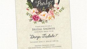 Teapot Bridal Shower Invitations Tea Party Bridal Shower Invitation Teapot Watercolor