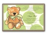 Teddy Bear Invitations for Baby Shower Brown Teddy Bear Baby Shower Invitations