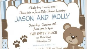 Teddy Bear Invitations for Baby Shower Teddy Bear Baby Shower Invitations – Gangcraft