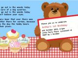 Teddy Bear Party Invitations Templates Cup Of Rooibos Teddy Bear Picnic 1st Birthday Party