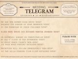 Telegram Wedding Invitation Template Telegram Invitation for the Day I Become Mrs Chappell