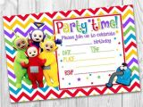 Teletubbies Party Invitations Girls Boys Invitations Teletubbies Cbeebies Rainbow Party