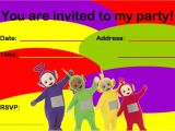 Teletubbies Party Invitations Pin Free Teletubbies Party Ideas Creative Printables Cake