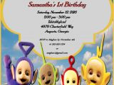 Teletubbies Party Invitations Teletubbies Birthday Party Invitation Childs Tv Show