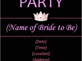 Template for Bachelorette Party Invitations Bachelorette Invitations Template Best Template Collection