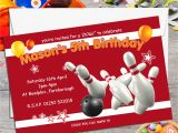 Ten Pin Bowling Party Invitations 10 Personalised Ten Pin Bowling Birthday Party Invitations