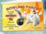 Ten Pin Bowling Party Invitations 10 Personalised Tenpin Bowling Birthday Party Invitations N1