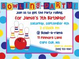 Ten Pin Bowling Party Invitations Birthday Party Invitations Free Templates – Gangcraft