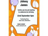 Ten Pin Bowling Party Invitations Ten Pin Bowling Birthday Party Invitation