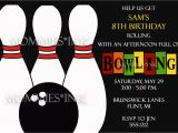 Ten Pin Bowling Party Invitations Ten Pin Bowling Party Invitation