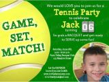 Tennis Birthday Party Invitations 20 Best Images About Will 39 S Tennis Party On Pinterest