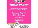 Tennis Birthday Party Invitations Personalized Tennis Invitations Custominvitations4u Com