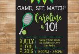 Tennis Birthday Party Invitations Tennis Birthday Party Invitation Tennis Invite Printable