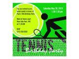 Tennis Birthday Party Invitations Tennis Birthday Party Invitation Zazzle Com
