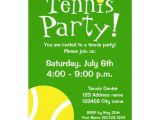 Tennis Birthday Party Invitations Tennis Party Invitations for Birthdays or Bbq Zazzle Com