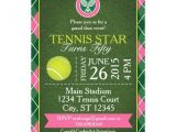 Tennis Party Invitation Grand Slam Tennis Party Invitation Grn Pink 5×7 Zazzle