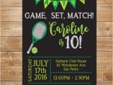Tennis Party Invitation Tennis Birthday Party Invitation Tennis Invite Printable