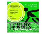Tennis Party Invitation Tennis Birthday Party Invitation Zazzle Com