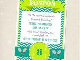 Tennis Party Invitation Tennis Party Invitation Customizable You Print