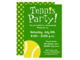 Tennis Party Invitation Tennis Party Invitations for Birthdays or Bbq Zazzle