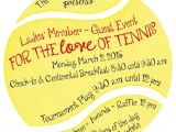 Tennis Party Invitation the 25 Best Ideas About Tennis Party On Pinterest