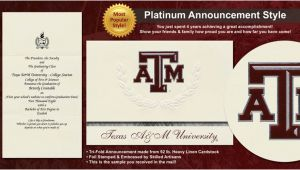 Texas A&m Graduation Invitations Texas A M University Graduation Announcements Texas A M