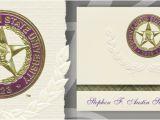 Texas State University Graduation Invitations Stephen F Austin State University Graduation