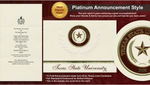Texas State University Graduation Invitations Texas State University Graduation Announcements Texas