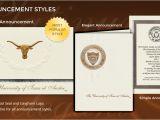 Texas State University Graduation Invitations University Of Texas at Austin Graduation Announcements