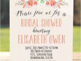 Text for Bridal Shower Invitation Rustic Bridal Shower Invitation Floral Bridal Shower Invite