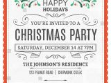 Text for Holiday Party Invitation Vector Christmas Party Invitation Dummy Text Stock Vector