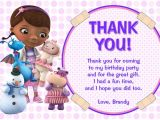 Thank You for Birthday Party Invitation Doc Mcstuffins Chalkboard Invitations General Prints