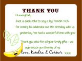 Thank You Letter for Invitation to Birthday Party Kandcturn5 5th Birthday Monkey Party Thank You Notes
